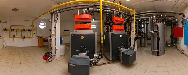 газовая котельная с двумя котлами в нефтепромысле